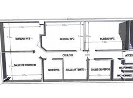 location Bureaux 124m² VERTOU 44
