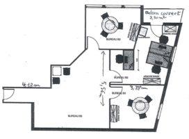achat Bureaux 70m² PACE 35
